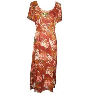 VTG Escada by Margaretha Ley Floral Silk Dress